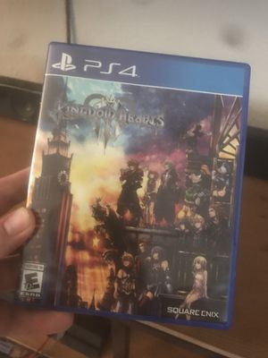 PlayStation 4 Kingdom Hearts 3 for Sale in Sacramento, CA