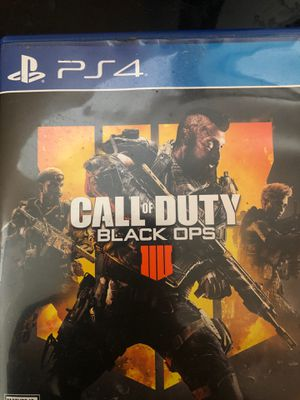 Black ops 4 for Playstaion 4 low ball for Sale in Florissant, MO