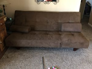 Nice Futon...makes into double bed for Sale in Rancho Cucamonga, CA