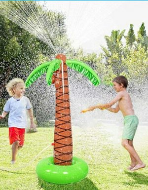 "Brand new 61"" tall inflatable palm tree water sprinkler kids summer outdoor toy for Sale in Montebello, CA"