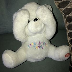 Gently Used & Working Peek-A-Boo White Animated Teddy Bear Plush Talks and Laughs by Giggles Inter. for Sale in Pinellas Park, FL