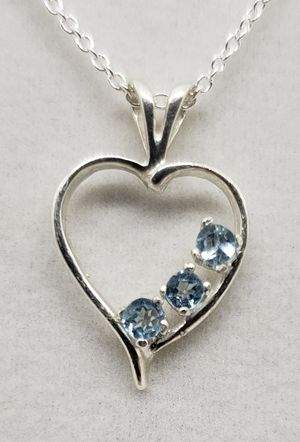 Natural Blue Topaz Silver Necklace for Sale in Justin, TX
