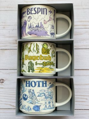 Disney Star Wars Starbucks Been There Mugs Hoth Bespin Dagobah Set for Sale in Irving, TX
