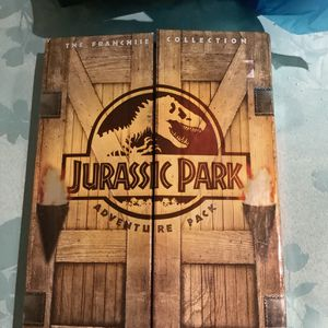 """Jurassic Park Adventure Pack The Franchise Collection (DVD, 2005, 3-Disc Set). Condition is """"Good for Sale in Hialeah, FL"""