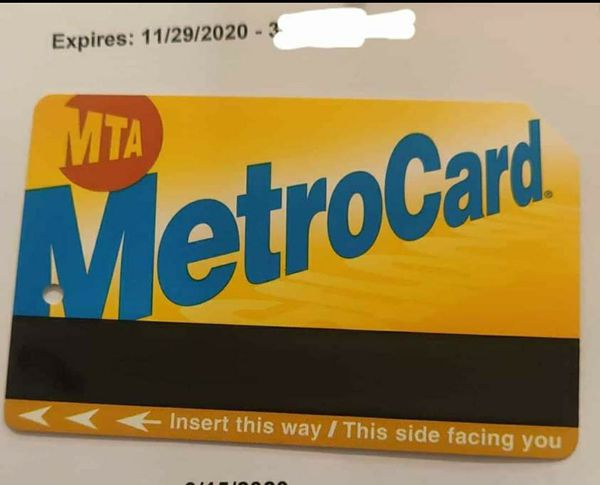 2 month metrocard (valid from October 1 to November 29 2020. 60 days unlimited metrocard
