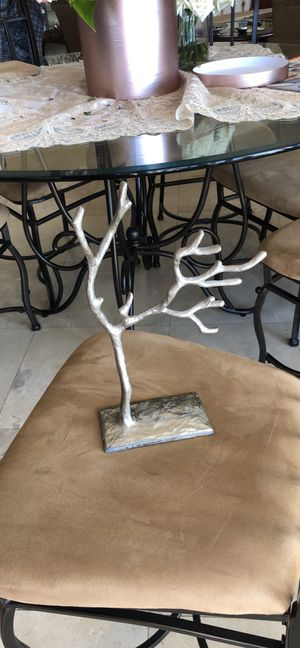 Silver tree jewelry holder/stand for Sale in Glendale, CA