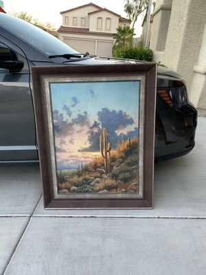 "Large 35""x 45"" Original Oil on Canvas Beautiful Desert Scene w/Nice Frame. Excellent condition, for Sale in Las Vegas, NV"