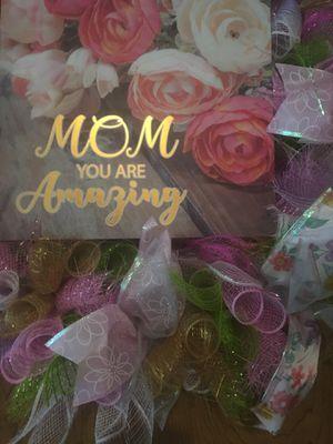 Mom you are amazing. 24 inch wreath for Sale in Visalia, CA
