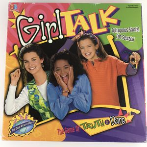 Girl Talk Game Board 1995 Truth or Dare Ages 8+ 2 or more Players Milton Bradley for Sale in Huntington Beach, CA