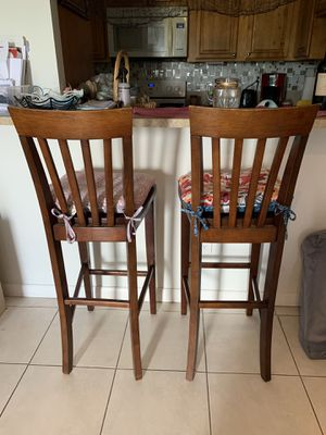 Wooden Tall Chairs for Sale in Miami, FL