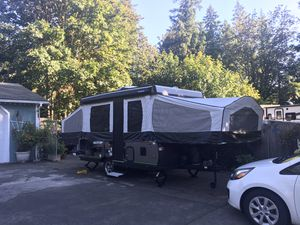 Rock wood pop up trailer for Sale in Kent, WA