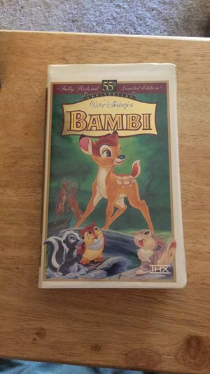 Disney 55th Anniversary Bambi VHS for Sale in Citrus Heights, CA