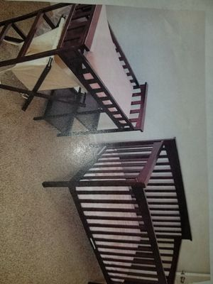 Dark wood crib/changing table for Sale in Sunnyvale, CA