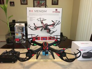 Drone RC Quadcopter with 1080 camera and 3D glasses for Sale in Hialeah, FL