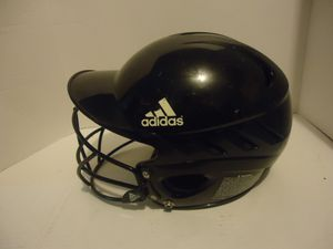 Adidas 3 Stripe Black Baseball Batting Vented Helmet Facemask Size 6-3/8 7-3/8 for Sale in Richmond, VA
