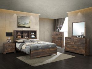 New! Queen Rustic 5PC Bedroom Set + FREE DELIVERY!! for Sale in Columbia, MD