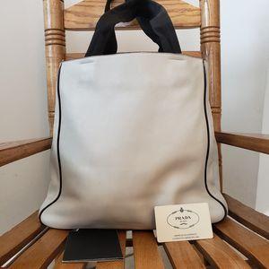 Prada white leather tote bag for Sale in Chicago, IL