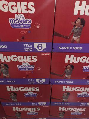 Huggies little movers size 6 $35 Cada caja precio firme for Sale in Santa Ana, CA