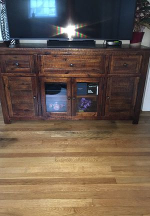 Beautiful wooden TV stand/console table/buffet table for Sale in Newton, MA