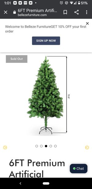 OPEN box new PRE-lighted Belleze 6ft Christmas Tree - everything in the box for Sale in Kissimmee, FL