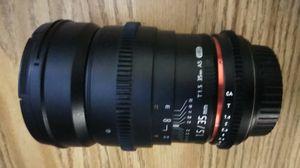 Rokinon 35mm T1.5 AS UMC EF mount very good condition for Sale in La Puente, CA