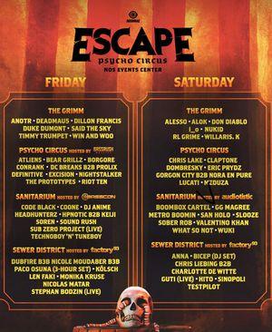 Escape TWO 2day GA passes $240 each for Sale in La Habra, CA