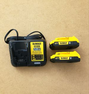 New (2) Batteries Dewalt 2.0AH and Charger FIRM PRICE for Sale in Woodbridge, VA
