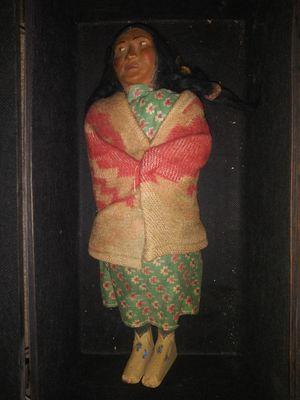 Antique Skookum Indian Doll, mother carrying child on her back. for Sale in Burlington, NC