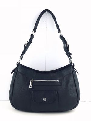 NATURALIZER BLACK PEBBLE LEATHER HOBO SHOULDER BAG PURSE for Sale in Mount Prospect, IL