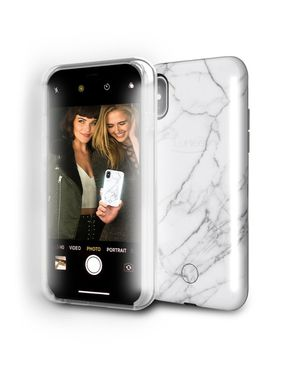 LuMee Duo Phone Case White Marble | Front & Back LED Lighting iPhone X / iPhone XS for Sale in Los Angeles, CA