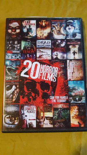 20 horror films. Four DVDs. for Sale in Akron, OH