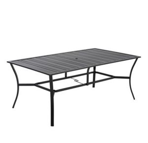 Mainstays Calimesa Rectangular Metal Slat Patio Dining Table, 5A-1367 for Sale in St. Louis, MO