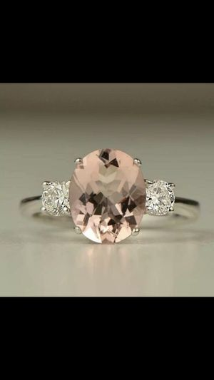 Silver morganite ring women's jewelry accessory fashion ring size 6,7,8 available for Sale in Colesville, MD