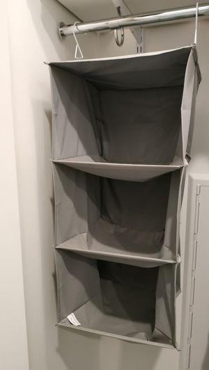 3 shelf hanging closet organizer for Sale in Chicago, IL
