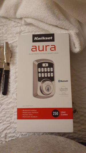 Aura bluethooth keypad smart lock for Sale in Oklahoma City, OK