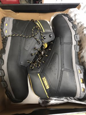 DEWALT Men's Halogen 6'' Work Boots - Steel Toe - Black Full Grain Size 13(M) for Sale in Temple City, CA