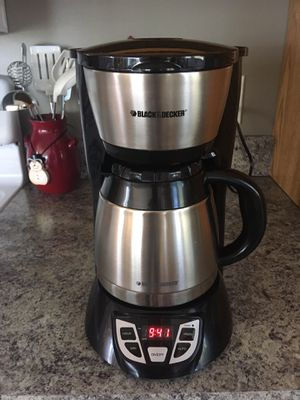Coffee Maker - Black & Decker 8 cup for Sale in Cadillac, MI