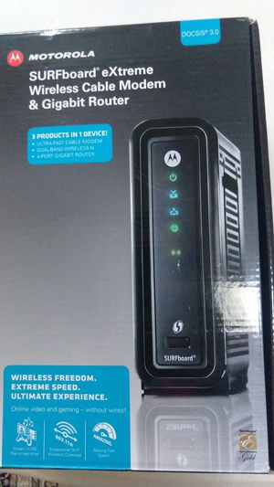 Motorolla Surfboard Docsis 3.0 modem and wifi router for Sale in Rockville, MD