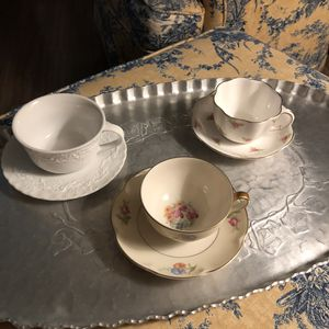 All 3 sets - teacups and saucers Preowned vintage for Sale in Tacoma, WA