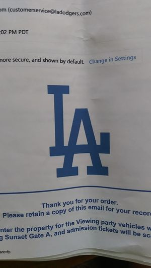 Dodgers World Series game 4 viewing for Sale in Ontario, CA