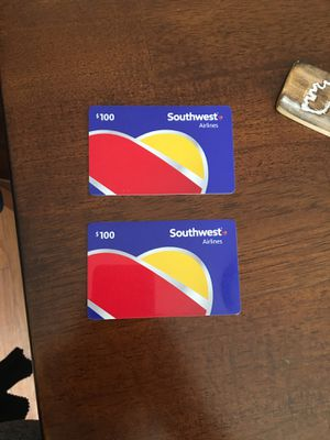 Southwest Airlines $200 worth for Sale in Colorado Springs, CO