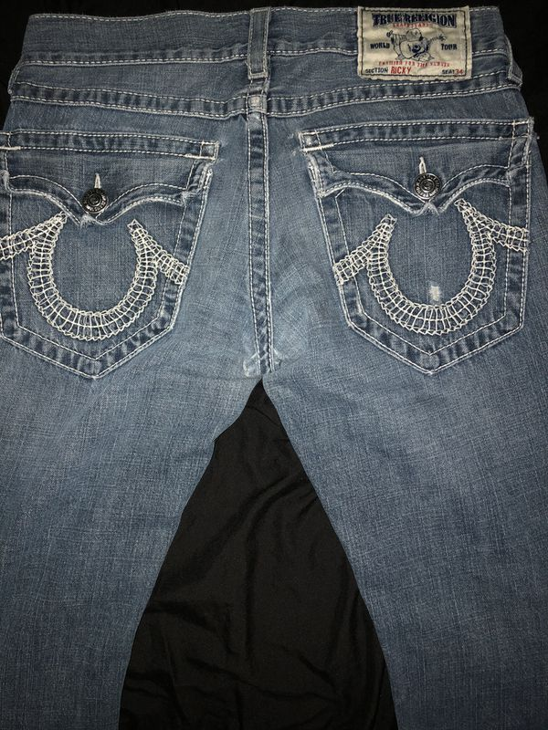 Mens True Religion Jeans, Ricky, Size 30