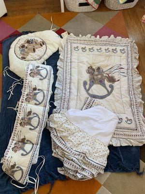Crib bedding 4 piece for Sale in Vallejo, CA