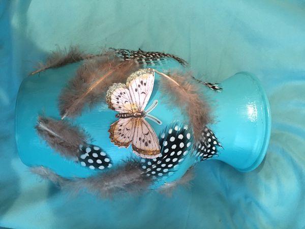 Blue Butterfly Vase 🦋