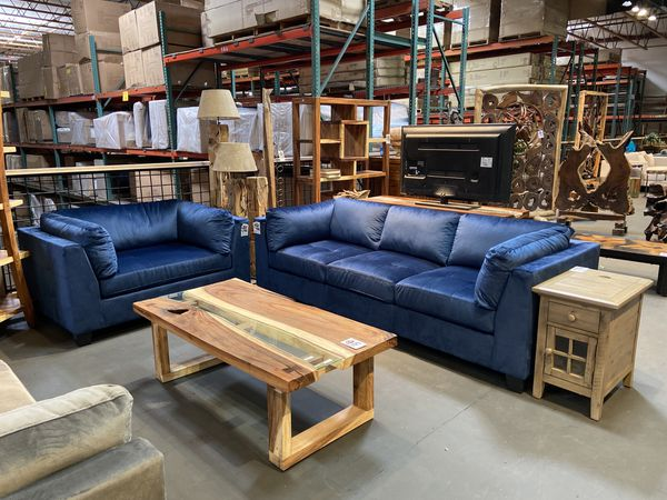 New & In Stock! Blue Sofa $599