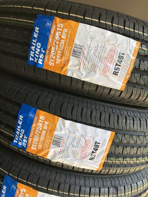 SPECIAL PRICING!!! ST205/75R15 Trailer King 8Ply for Sale in Austin, TX
