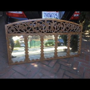 Antique Ebonized Wood Mirror From India, Beverly Hills Area, $200.00 for Sale in Beverly Hills, CA