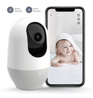 360-degree Wireless IP Nanny Camera, 1080P Home Security Camera, Motion Tracking, IR Night Vision, Works with Alexa, Two-Way Audio, Motion & Sound De for Sale in Corona, CA
