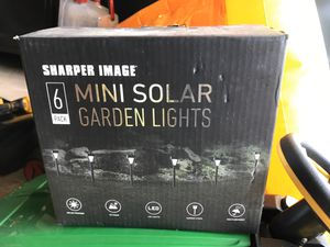 Sharper Image Solar Garden Lights for Sale in Chantilly, VA