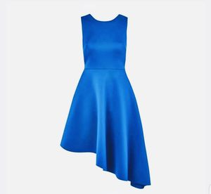 TOPSHOP Lace-up Back Asymmetrical Dress Bright Blue Prom Birthday US 6 UK10 $110. Condition is New with tags. for Sale in Redmond, WA